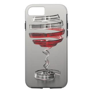Caso duro del iPhone 7 de la copa de vino extraña Funda iPhone 7
