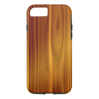 Caso duro del iPhone 7 de madera de la teca Funda iPhone 7