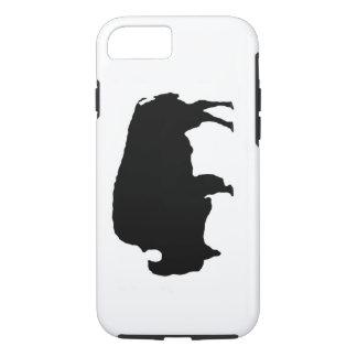 Caso duro del iPhone 7 del búfalo blanco del negro Funda iPhone 7