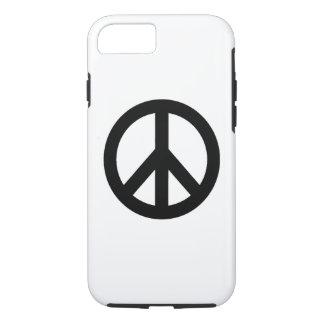 Caso duro del iPhone 7 del símbolo blanco negro Funda iPhone 7