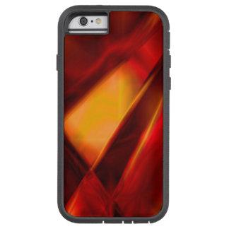 Caso duro del iPhone abstracto del rojo/del oro Funda Tough Xtreme iPhone 6