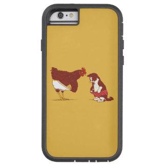 Caso duro del iPhone CURIOSO 6 del CAT Y de CHOOK Funda De iPhone 6 Tough Xtreme