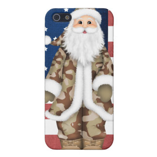 Caso duro del iphone de Cammo Santa Shell 4 4S del iPhone 5 Cárcasa