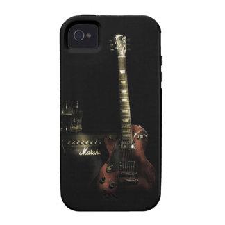 Caso duro del iPhone de la guitarra y del amperio iPhone 4 Funda