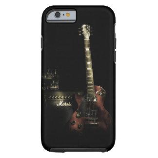 Caso duro del iPhone de la guitarra y del amperio Funda De iPhone 6 Tough