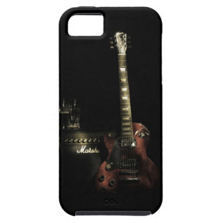 Caso duro del iPhone de la guitarra y del amperio iPhone 5 Funda