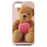 caso duro del iphone del luv u del oso de peluche iPhone 5 Case-Mate cárcasa