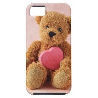 caso duro del iphone del luv u del oso de peluche funda para iPhone 5 tough