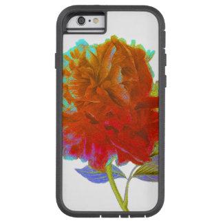 Caso duro del iPhone floral abstracto del Peony Funda Tough Xtreme iPhone 6