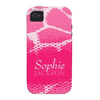 Caso duro del iphone gráfico rosado del estampado iPhone 4/4S carcasa