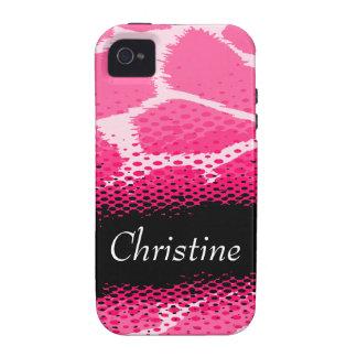 Caso duro del iphone gráfico rosado del estampado vibe iPhone 4 carcasas