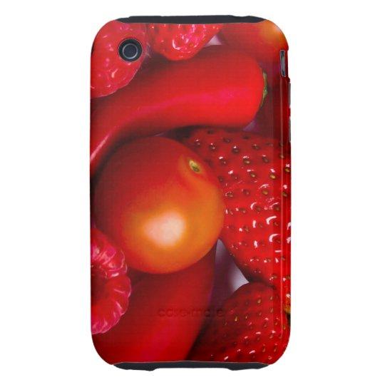 Caso duro del iPhone rojo 3/3GS de la fruta/de las Carcasa Though Para iPhone 3