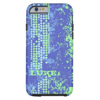 caso duro del verde azul de la resaca del iphone funda de iPhone 6 tough