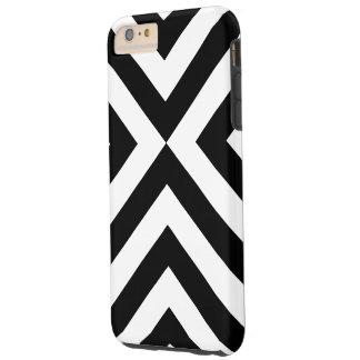 Caso duro más del iPhone 6 blancos y negros de los