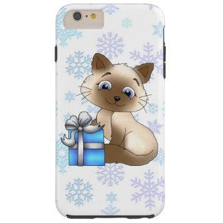 Caso duro más del iPhone 6 del gato del navidad Funda Resistente iPhone 6 Plus