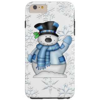 Caso duro más del iPhone 6 del muñeco de nieve del Funda Resistente iPhone 6 Plus