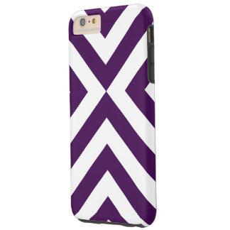 Caso duro más del iPhone 6 púrpuras y blancos de