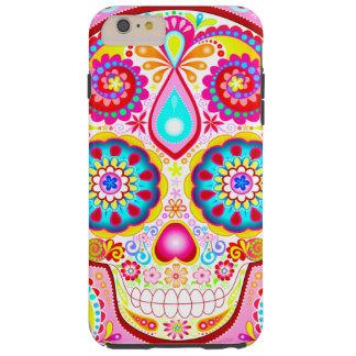 Caso duro más del iPhone 6 rosados del cráneo del Funda De iPhone 6 Plus Tough