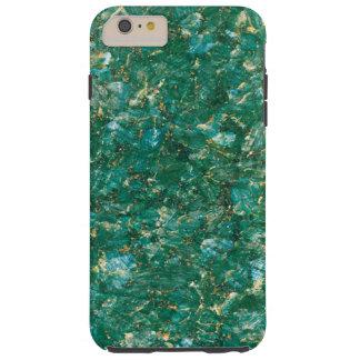 Caso duro más del iPhone 6 verdes del mármol del Funda Resistente iPhone 6 Plus