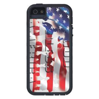 Caso duro muy patriótico del iPhone 5 de G B A Xtr iPhone 5 Fundas