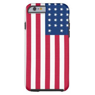 Caso duro patriótico del iPhone 6 de la bandera Funda Para iPhone 6 Tough