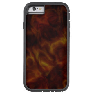 Caso duro rojo oscuro y del oro abstracto del funda tough xtreme iPhone 6