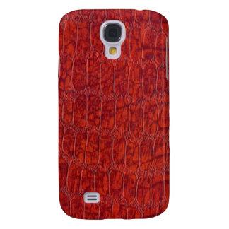 Caso duro vivo de HTC de la impresión roja del coc Funda Para Galaxy S4