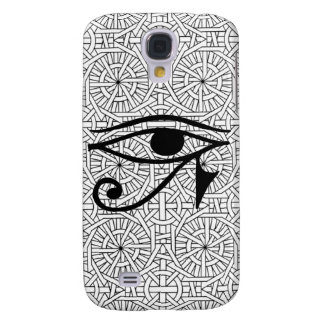 Caso duro vivo de HTC del ojo egipcio y del modelo Funda Para Galaxy S4