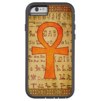 Caso egipcio del iPhone 6 - cruz de Ankh Funda De iPhone 6 Tough Xtreme