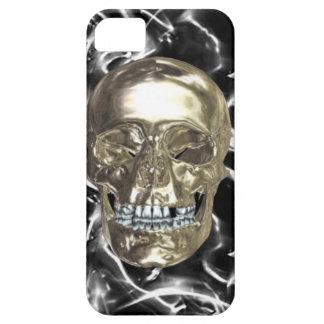 Caso eléctrico del iPhone 5G del cráneo del cromo iPhone 5 Fundas