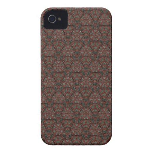 Caso elegante del iPhone 4 de Brown Case-Mate iPhone 4 Cobertura
