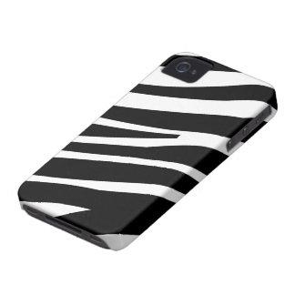 Caso elegante del iphone 4 de la cebra de la diver Case-Mate iPhone 4 fundas