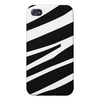 Caso elegante del iphone 4 de la cebra de la diver iPhone 4 protector