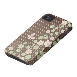 Caso elegante del iphone 4 del estampado de flores Case-Mate iPhone 4 coberturas