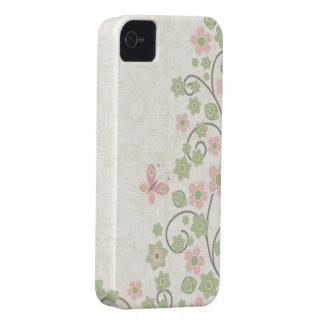 Caso elegante del iphone 4 del estampado de flores Case-Mate iPhone 4 protector