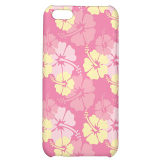 Caso elegante del iphone 4 del hibisco amarillo ro