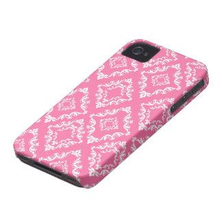 Caso elegante del iphone 4 del modelo del damasco iPhone 4 fundas