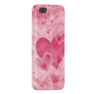 Caso elegante del iPhone 5 de los corazones iPhone 5 Carcasas