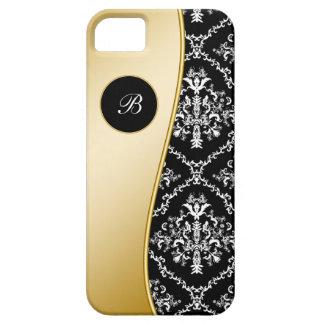 Caso elegante del iPhone 5 del monograma iPhone 5 Cárcasa