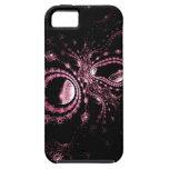 Caso elegante del iphone 5 del negro y de las rosa iPhone 5 coberturas