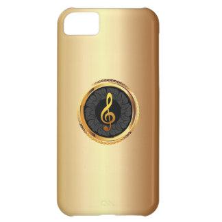 Caso elegante del iPhone 5 del símbolo de música d Funda Para iPhone 5C