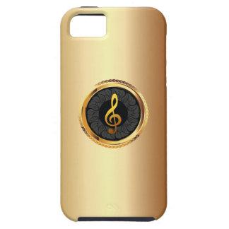 Caso elegante del iPhone 5 del símbolo de música Funda Para iPhone 5 Tough