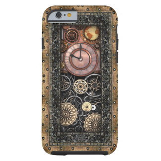 Caso elegante del iPhone 6/6S de Steampunk Funda Para iPhone 6 Tough