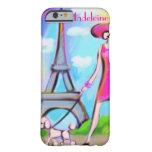 Caso elegante del iPhone 6 de la mujer de París Funda De iPhone 6 Barely There