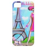 Caso elegante del iPhone de la mujer de París iPhone 5 Cobertura