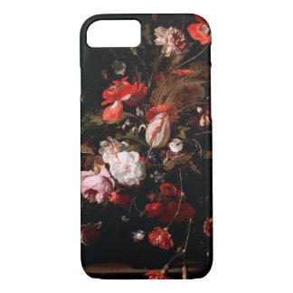 Caso elegante floral del iPhone del vintage negro Funda iPhone 7