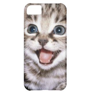 Caso emocionado lindo de IPhone del gatito Funda Para iPhone 5C