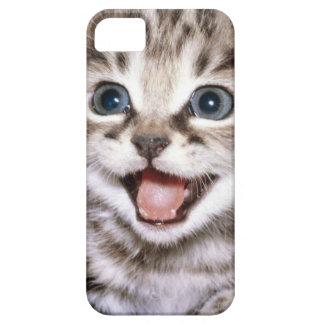 Caso emocionado lindo de IPhone del gatito iPhone 5 Carcasas