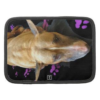 Caso en folio de bull terrier del inglés mini organizadores