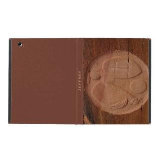 caso en folio del iPad 2/3/4, ángel en las rocas,